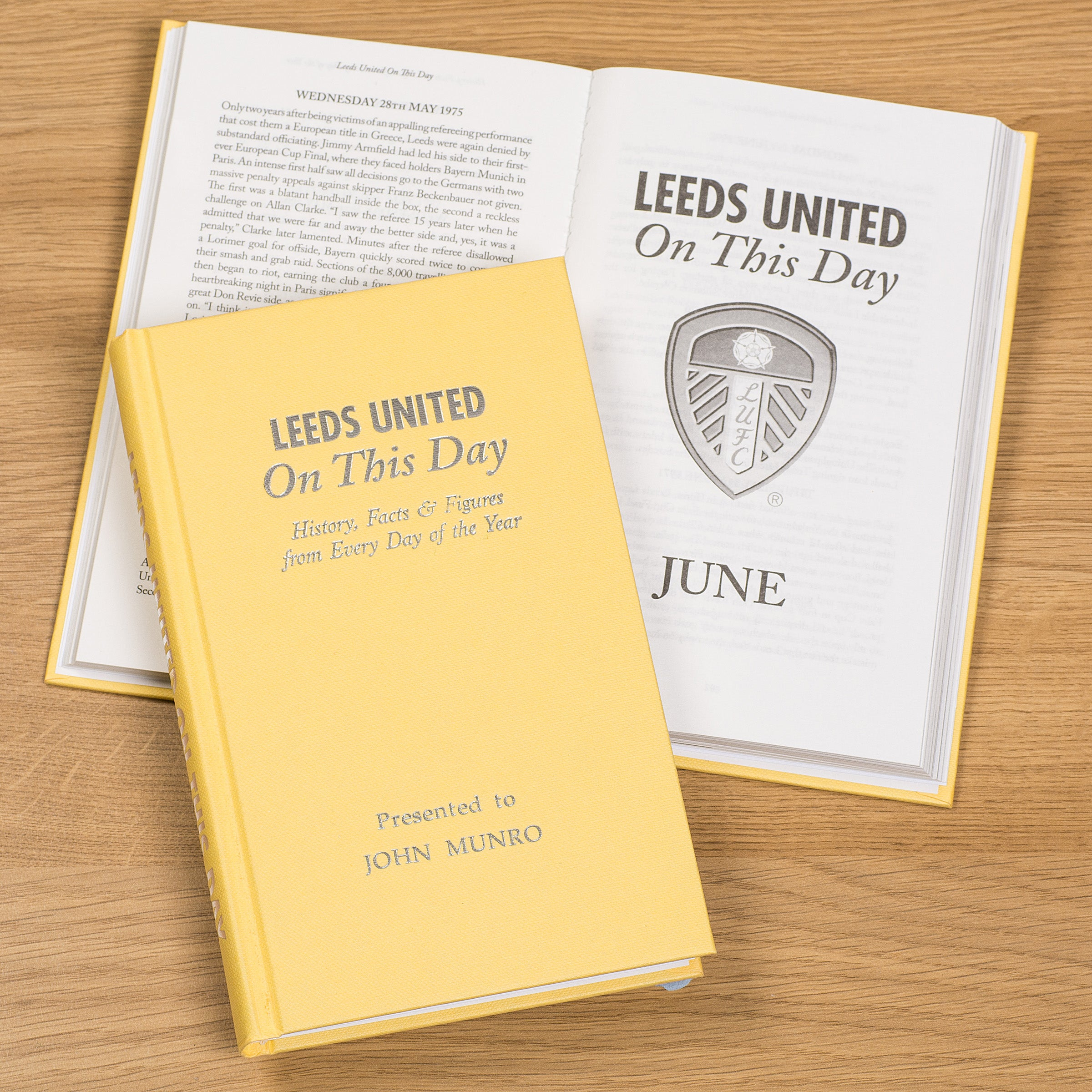 Personalised Book Leeds United On This Day History Gift Elland Road  Eddie Gray
