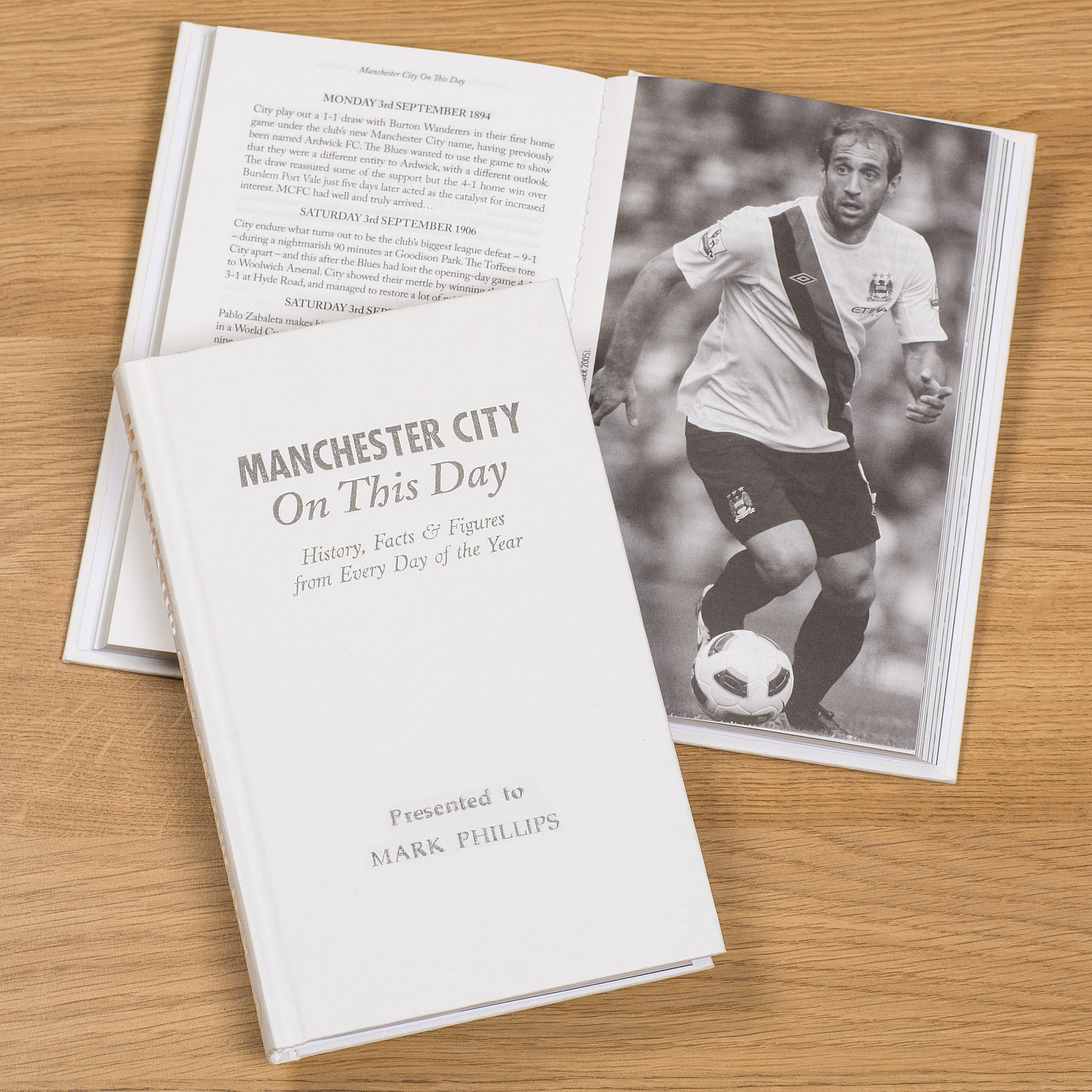Personlised Book Manchester City On This Day History Maine Road