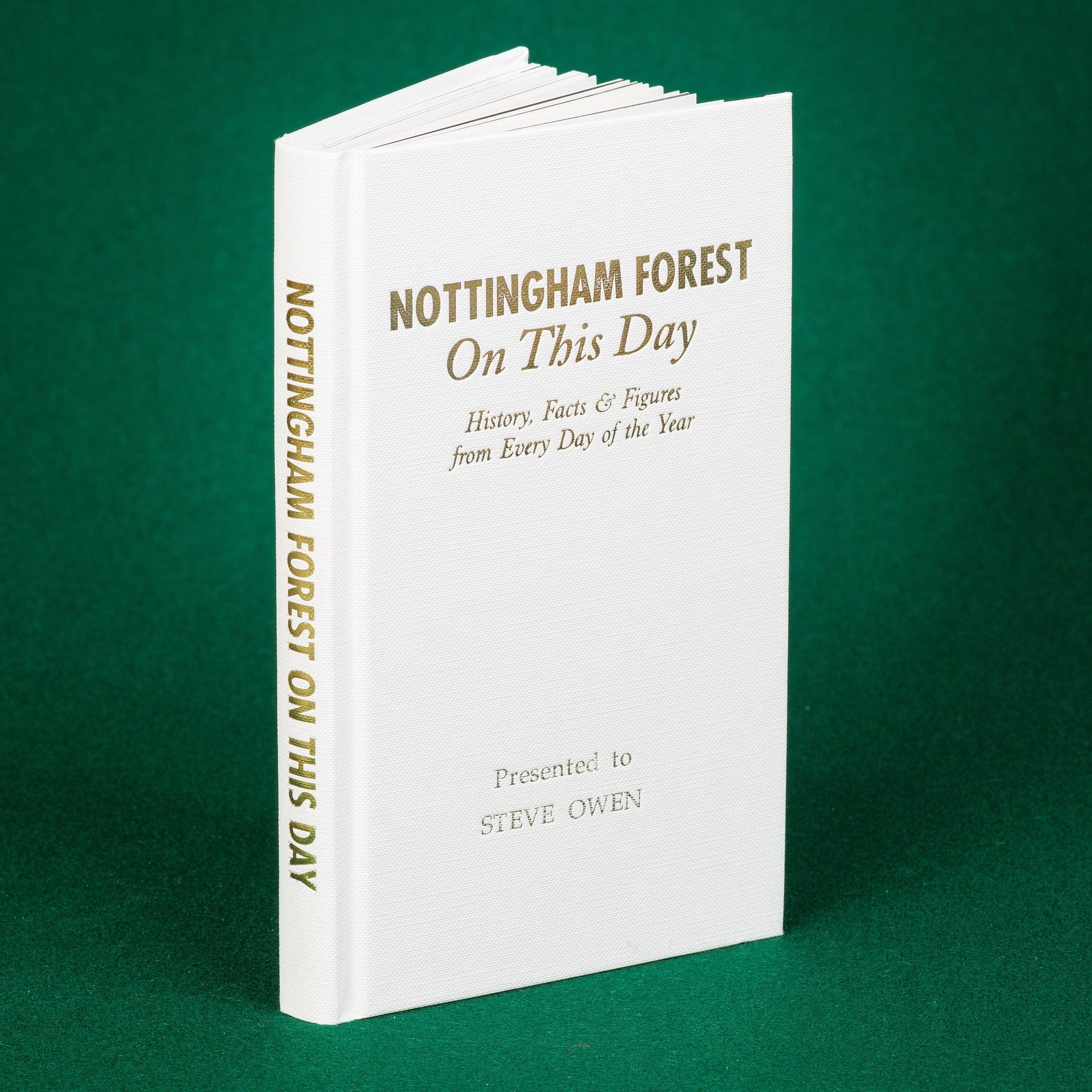 Personlised BookNottingham Forest On This Day History Gift Clough