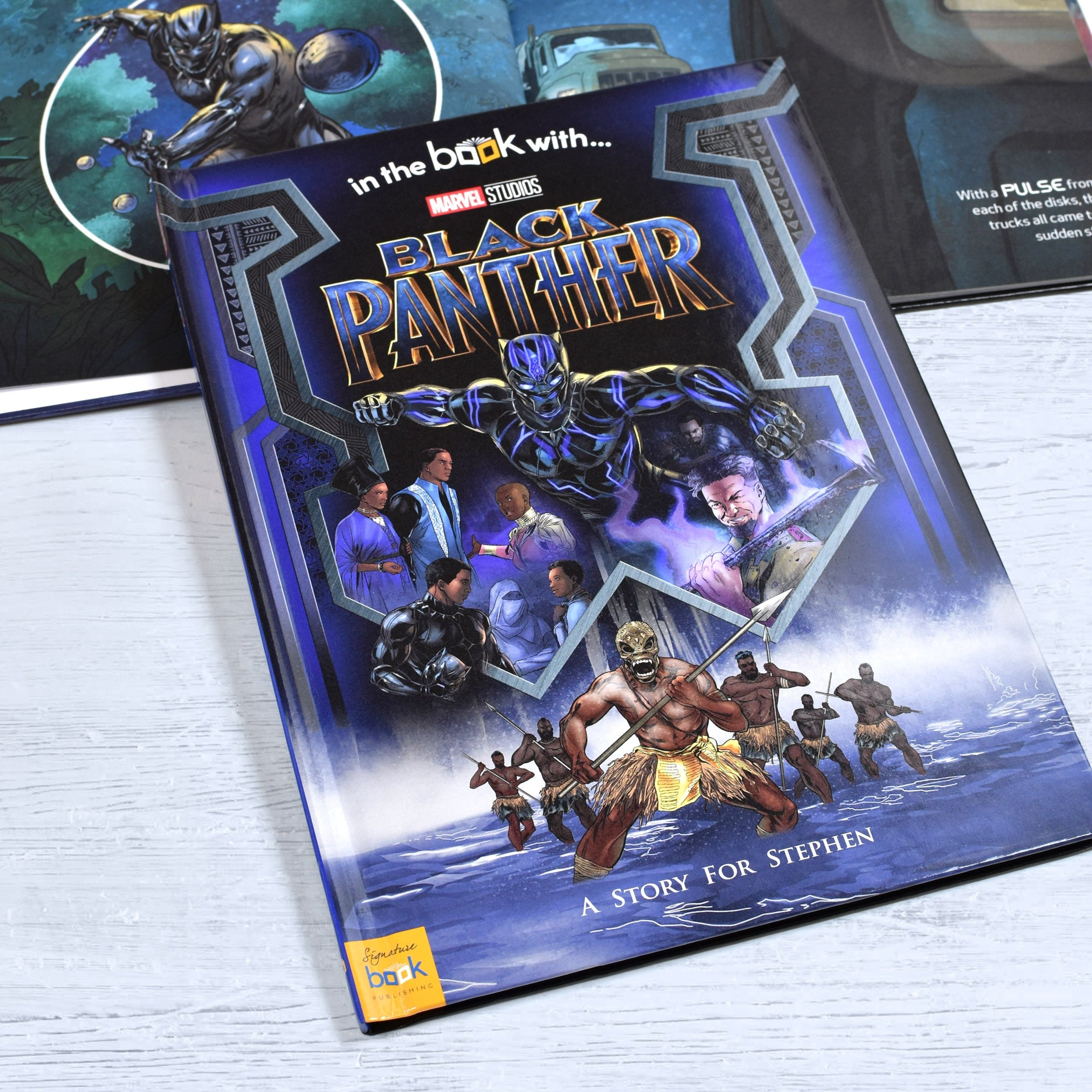 Personalised Black Panther Marvel Story Book Marvel Softback Photo Included
