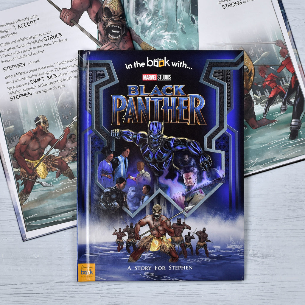 Personalised Black Panther Marvel Story Book Marvel Hardback Photo Included