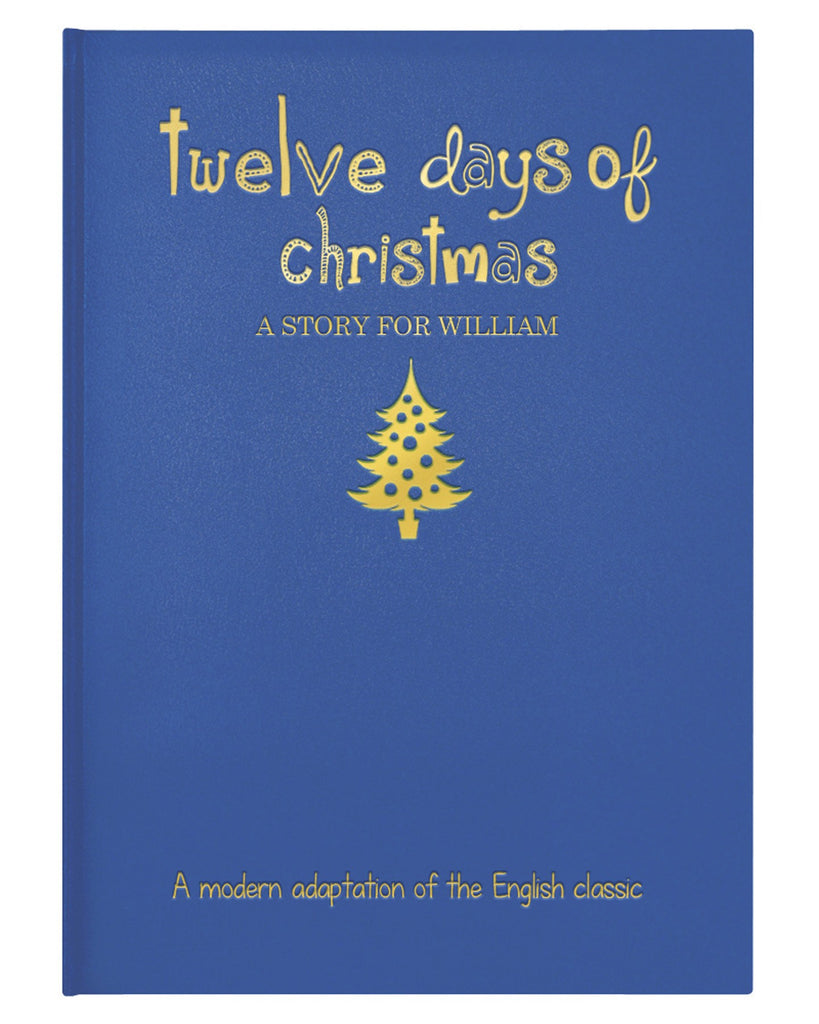Personalised 12 Days of Christmas Embossed Classic Hardback Book Xmas Gift