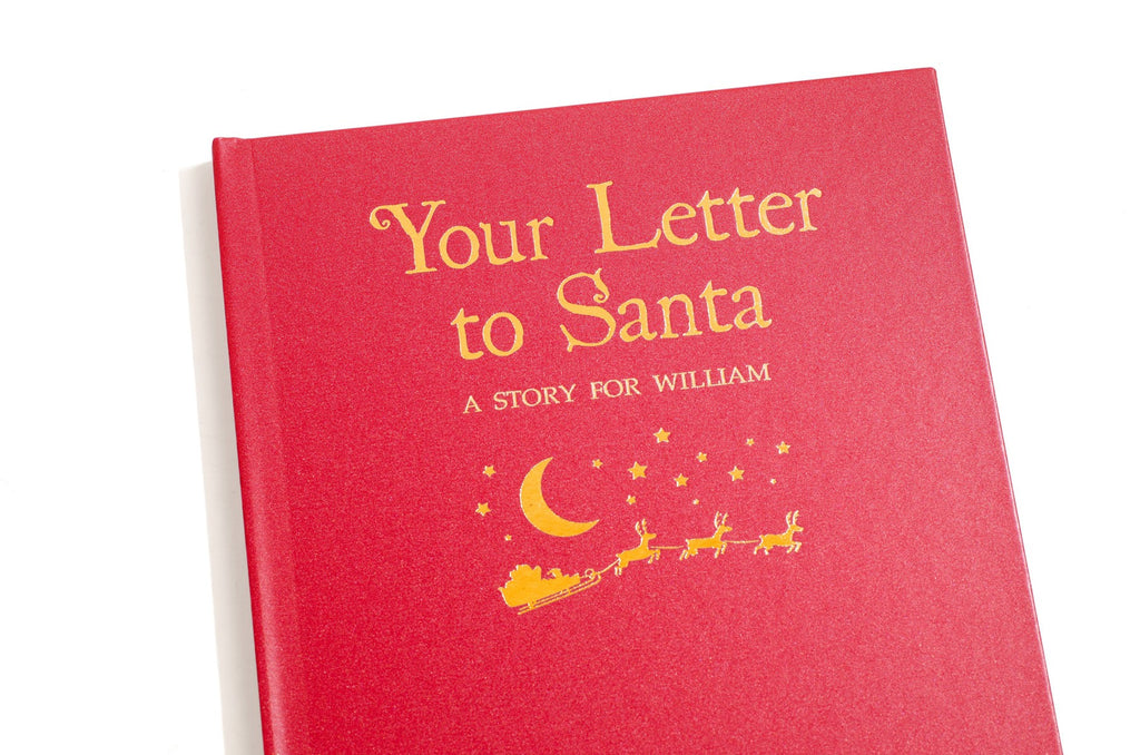 Personalised 'Your Letter to Santa' Embossed Classic Hardback Christmas Gift 2018