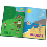 Personalised Months of the Year Embossed Classic Hardcover Book Childrens Kids