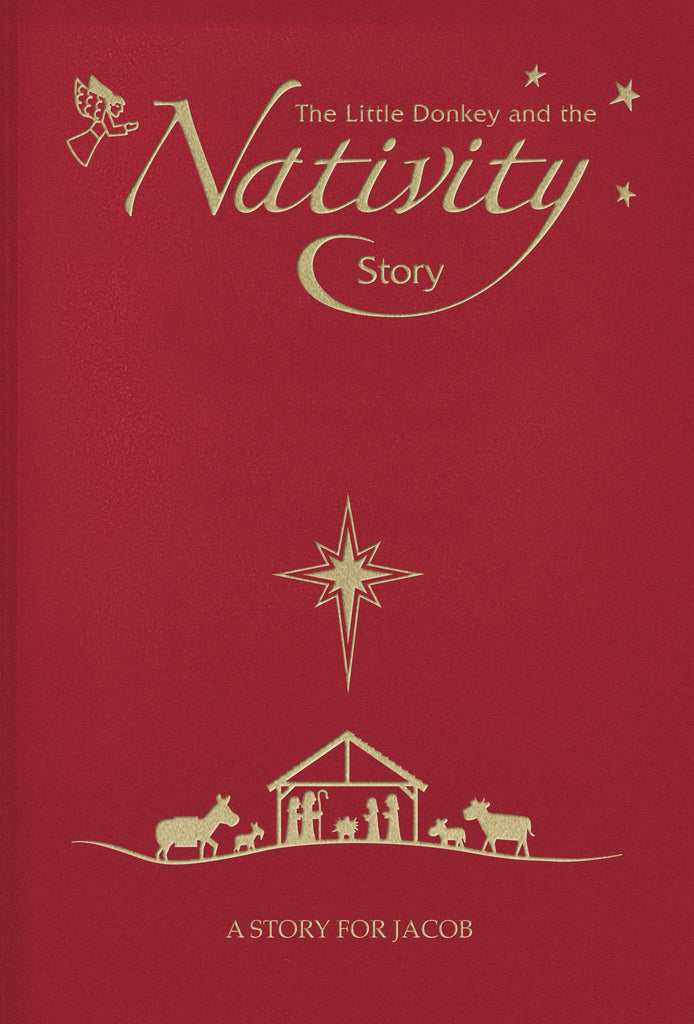 Personalised Nativity Story embossed classic hardcover Xmas Gift