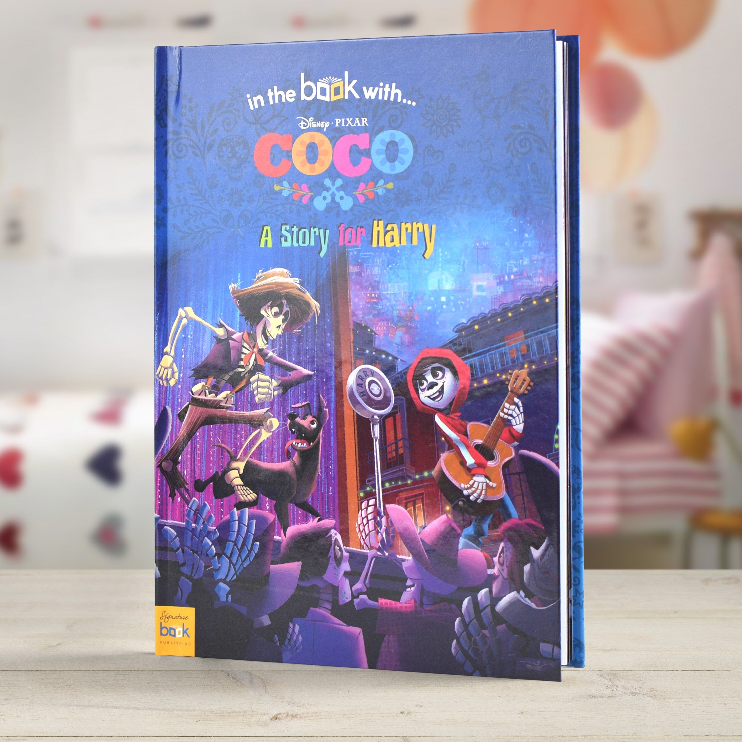 Personalised Disney Story Book Coco Mexican Children Adventure Kid Gift hardback