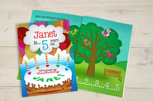 Personalised Counting Birthday Softback Book Kids Childrens Educational Ages 1-6