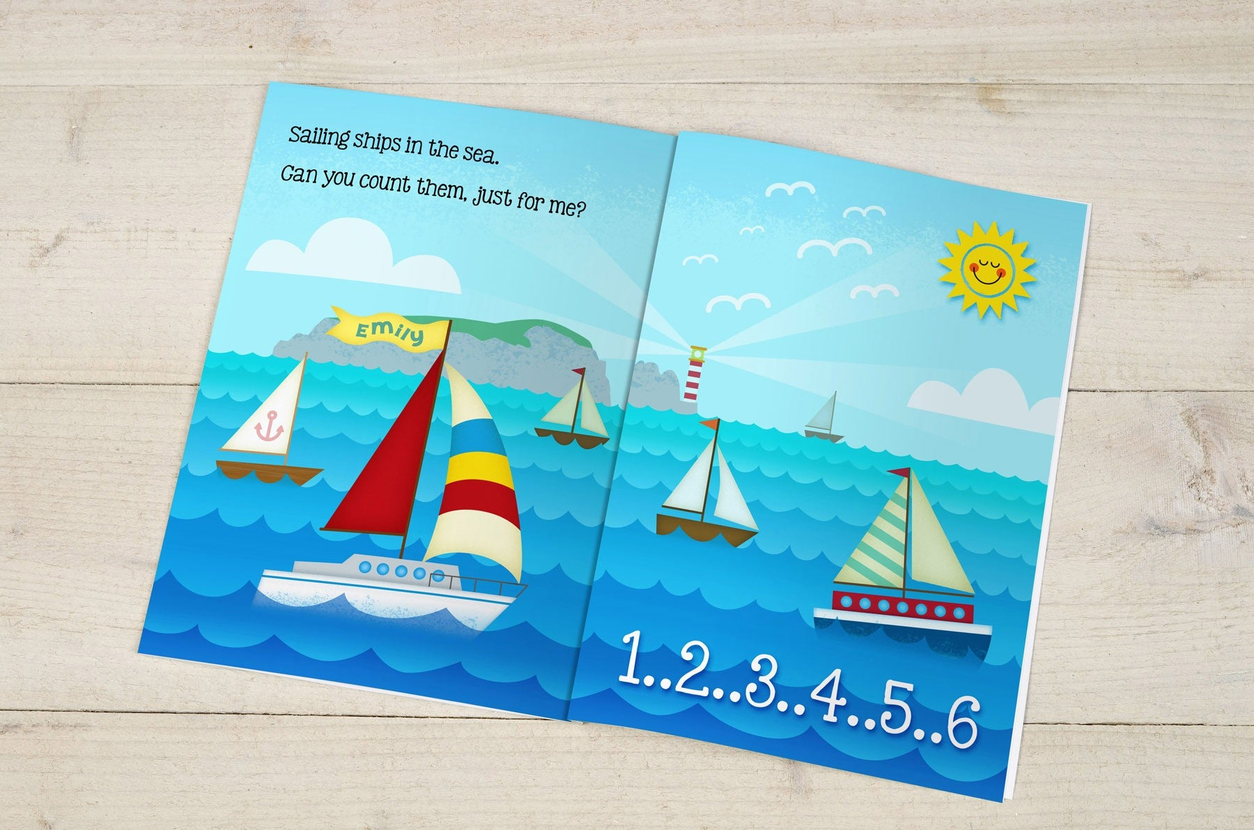 Personalised Counting Birthday Hardback Book Kids Childrens Educational Ages 1-6