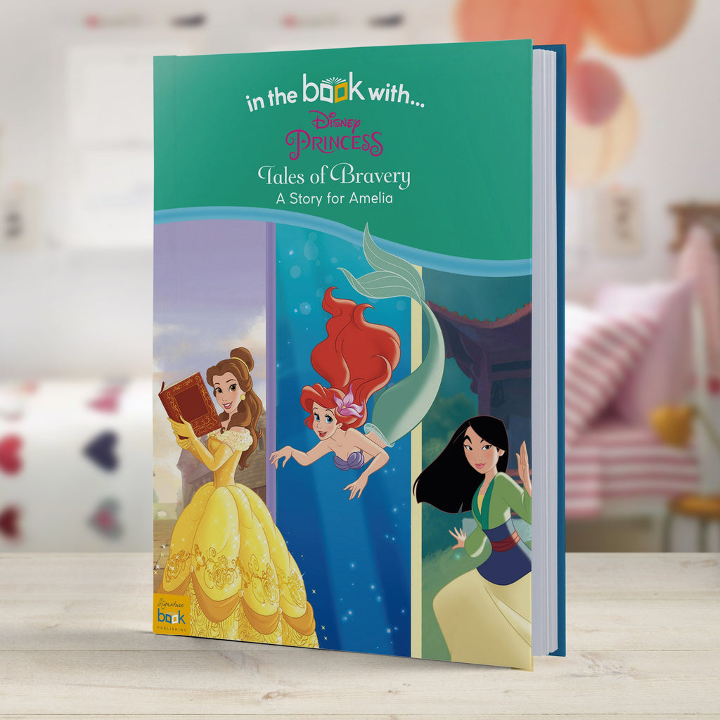 Personalised Disney Princesses Tales of Bravery Bedtime Story Book Hardback Gift