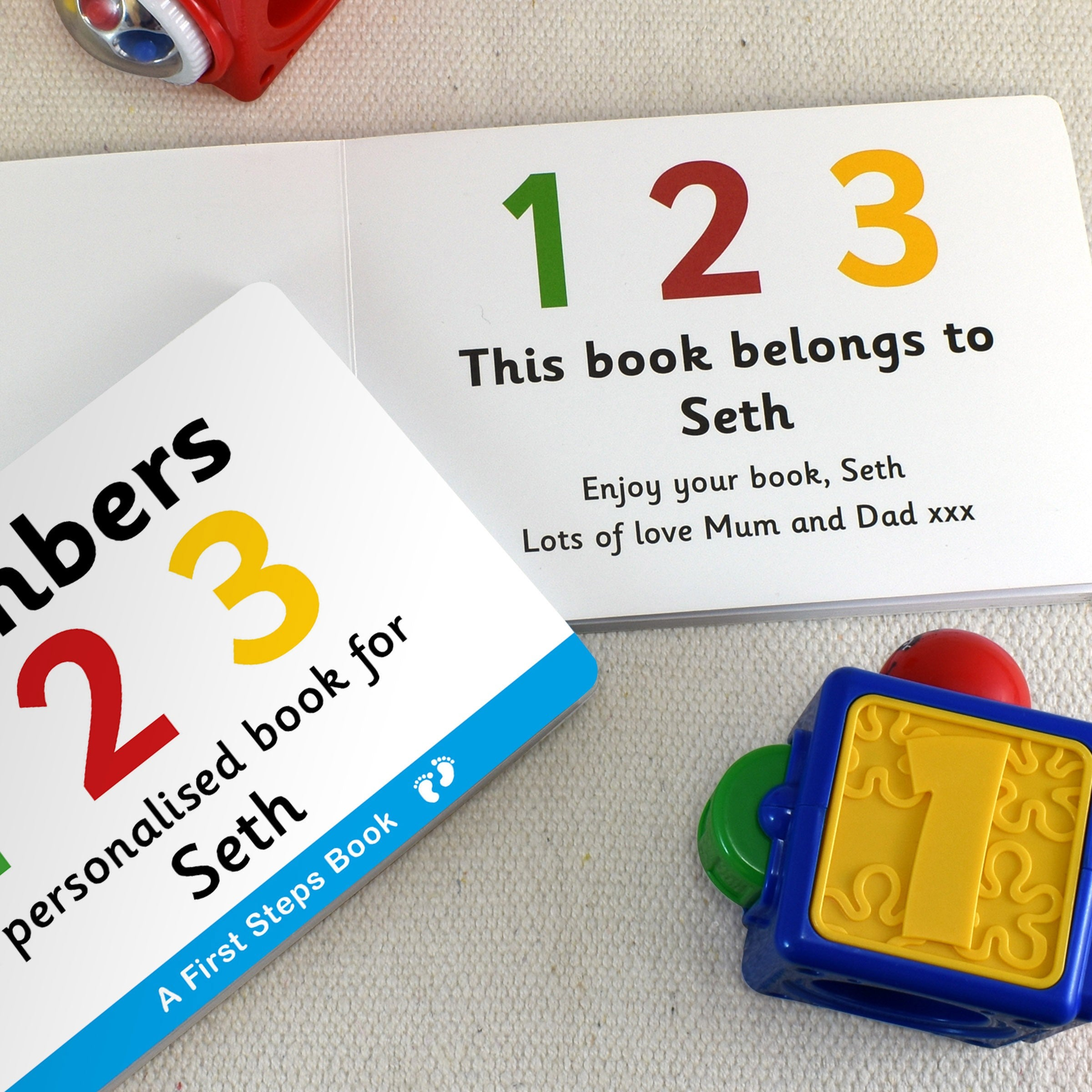 Personalised First Steps Numbers Board Book for Toddlers Kids Educational Learning Books