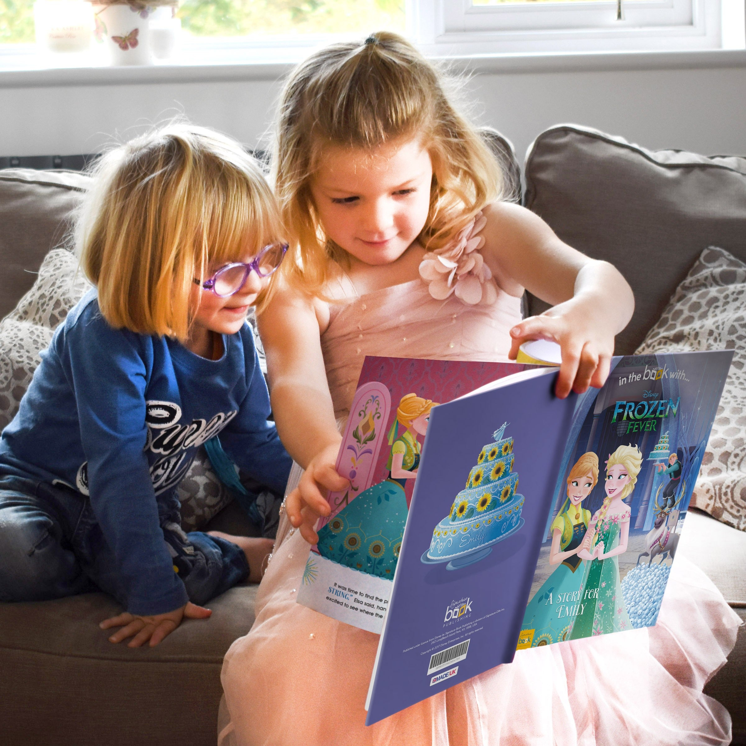 Personalised Disney Story Book Frozen Fever Adventure Childrens Gift Elsa Anna