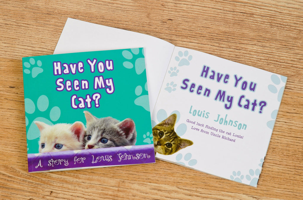 Personalised Have You Seen My Cat Hardback Book Kids Childrens Story Bedtime