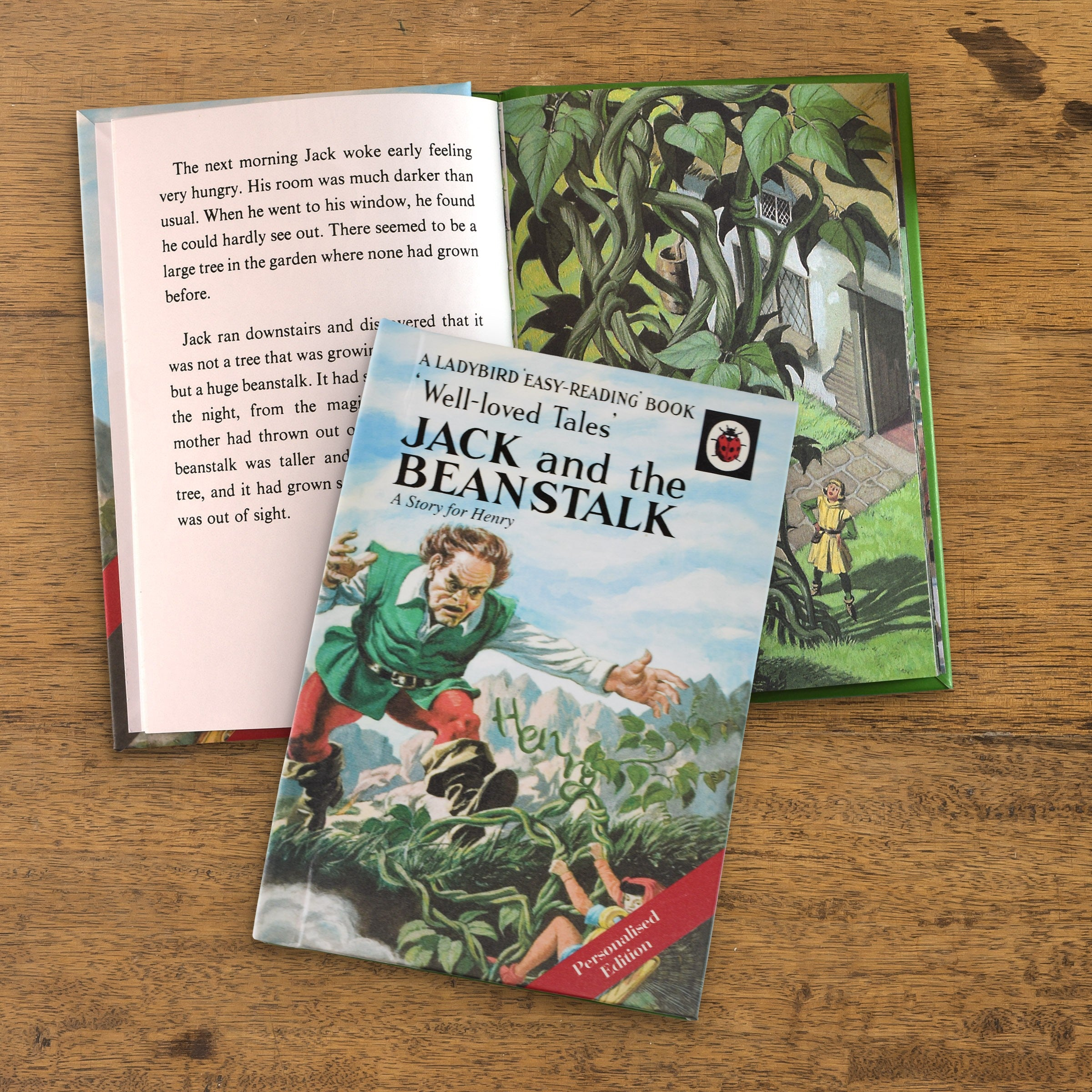 Personalised Jack and the Beanstalk Classic Ladybird Story Book Easy Reading