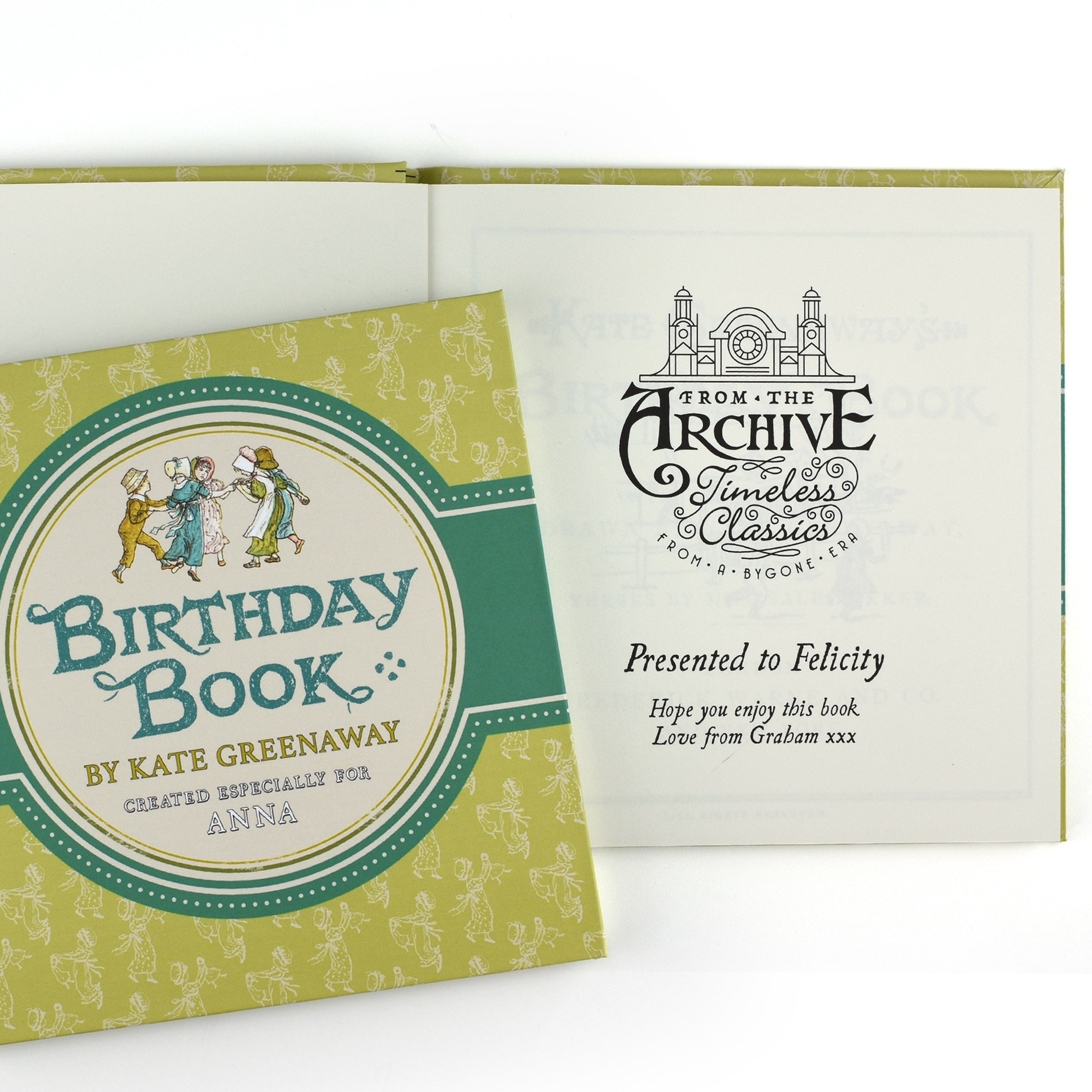 PERSONALISED Children's Book : Kate Greenaway's Birthday Book, Add Your Name