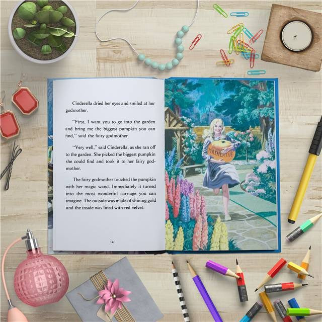 Personalised Childrens Book Cinderella Classic Ladybird Story Traditional Gift Easy Reading