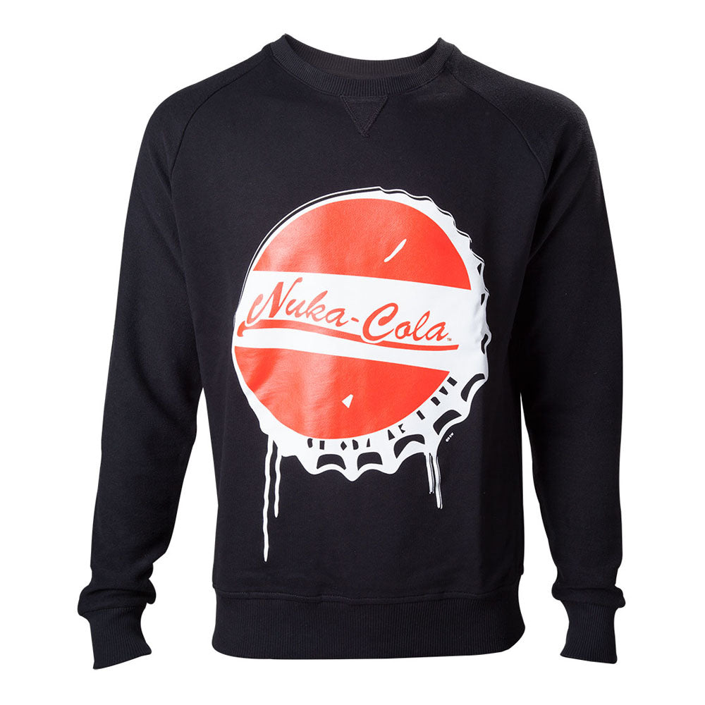 FALLOUT 4 Nuka Cola Bottle Cap Sweater, Male, Extra Large, Black (SW340008FOT-XL)
