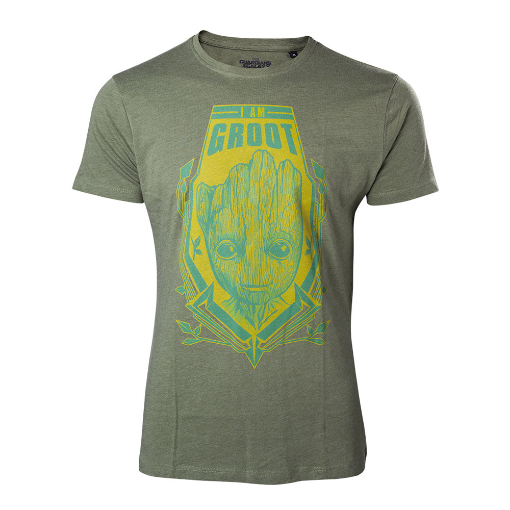 MARVEL COMICS Guardians of the Galaxy Vol. 2 I am Groot T-Shirt, Male, Large, Green (TS571029GOG-L)
