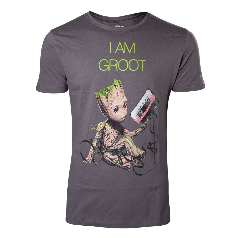 MARVEL COMICS Guardians of the Galaxy Vol. 2 I am Groot T-Shirt, Male, Extra Large, Dark Grey (TS571030GOG-XL)