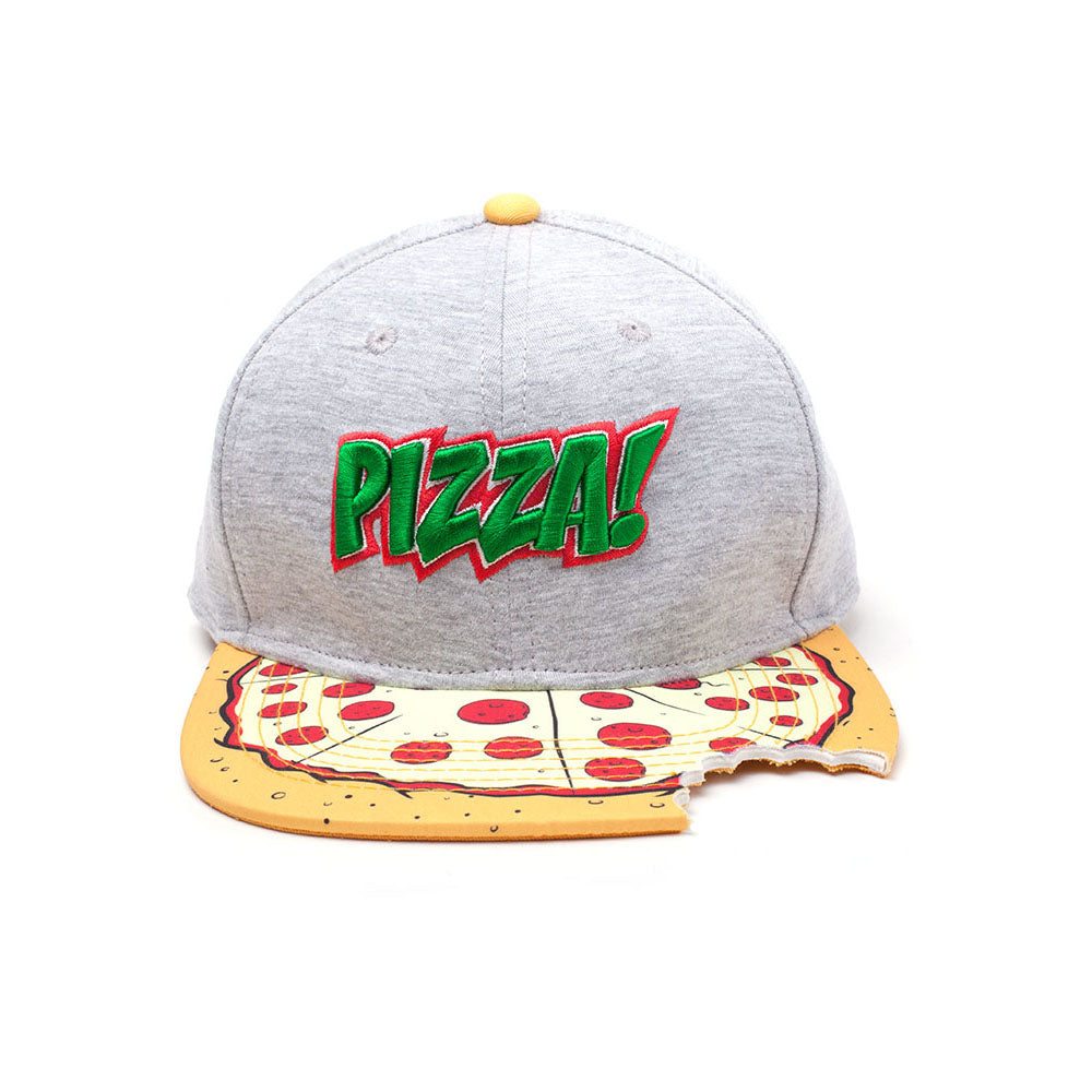 TEENAGE MUTANT NINJA TURTLES (TMNT) Pizza Bite Snapback Baseball Cap, One Size, Multi-colour (SB080602TMT)