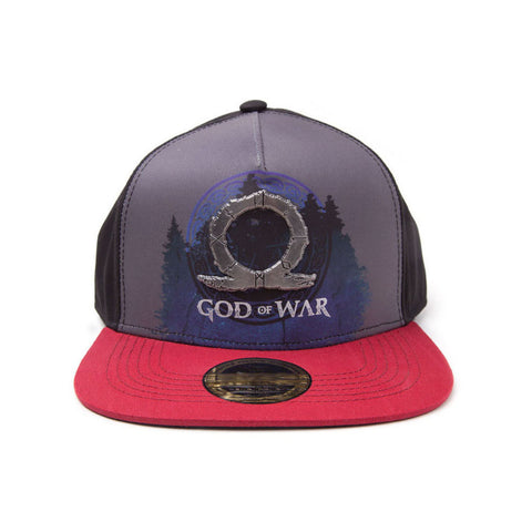 GOD OF WAR Logo Metal Badge Sublimation Print Snapback Baseball Cap, Multi-colour
