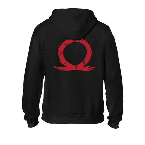 GOD OF WAR Male Serpent Logo Full Length Zipper Hoodie, Small, Black (GE6262S)