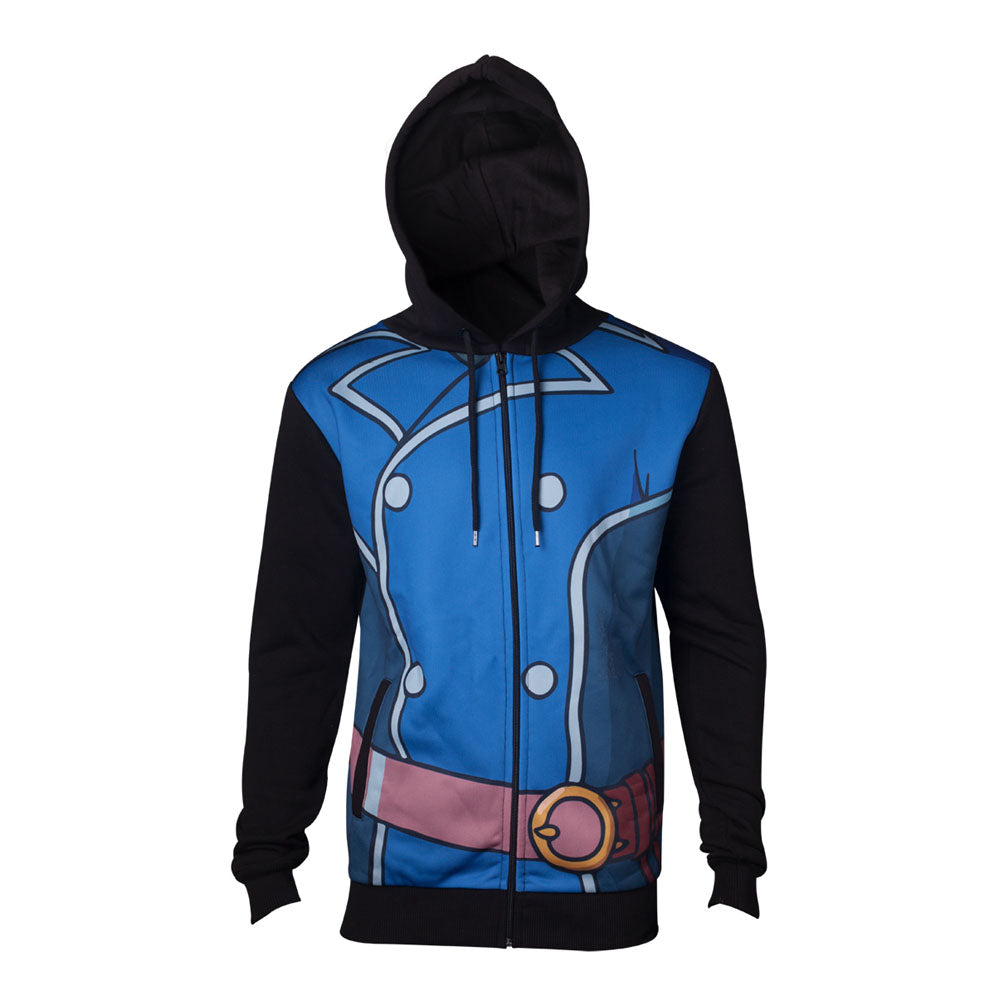 NI NO KUNI 2 Unisex Roland Suit Full Length Zipped Hoodie, Large, Multi-colour