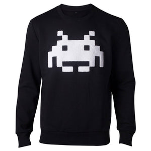 SPACE INVADERS Chenille Invaders Sweater, Male, Medium, Black (SW324063SPI-M)