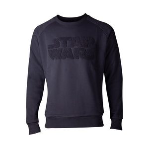 STAR WARS Chenille Logo Sweater, Male, Extra Extra Large, Black (SW622758STW-2XL)