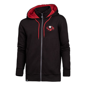 OVERWATCH Reaper Hero Full Length Zipper Hoodie, Male, Large, Black/Red (CHM002OW-L)
