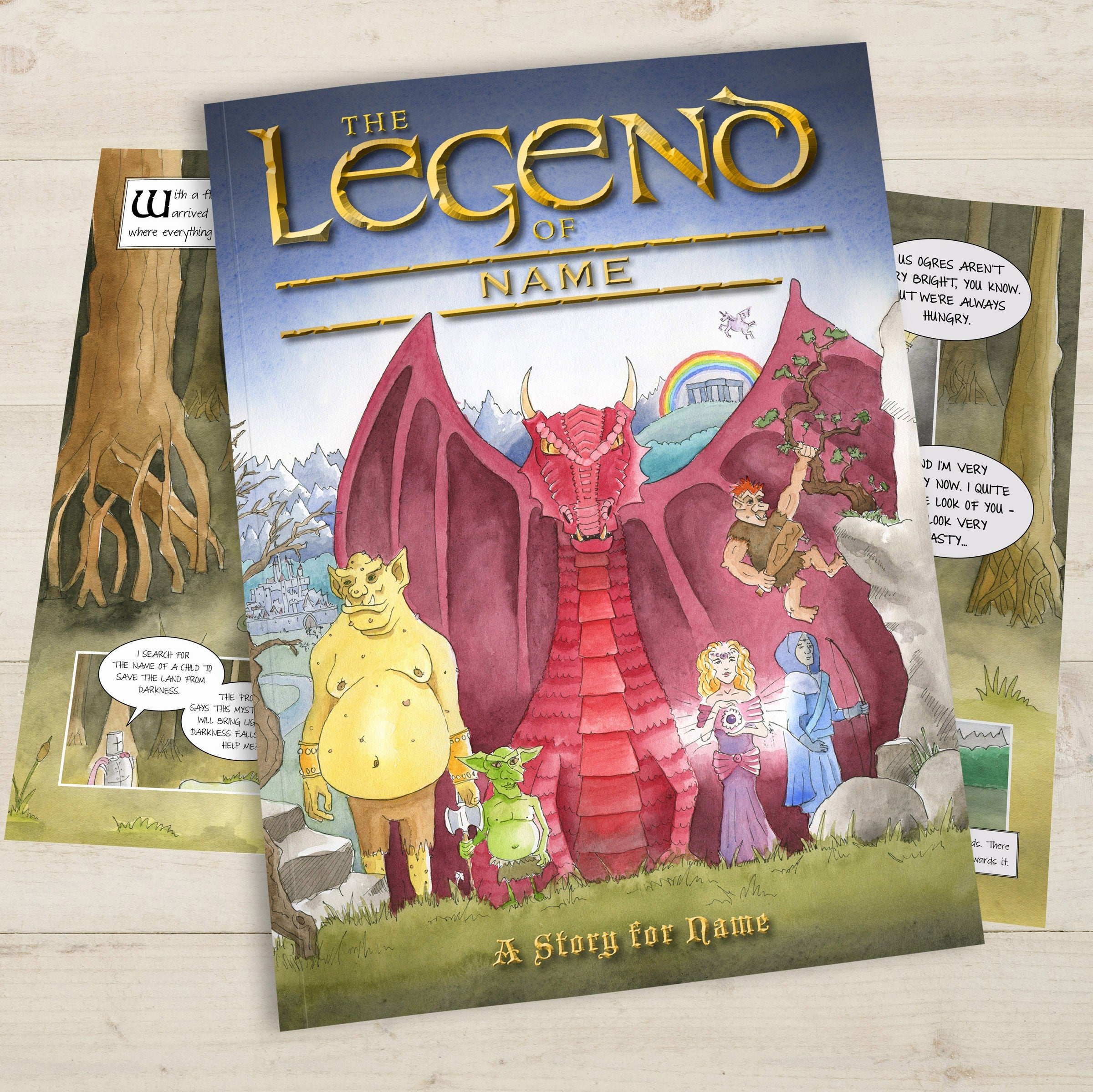 Personalised Childrens Book Legend of Your Name Educational Kids Story Hardback
