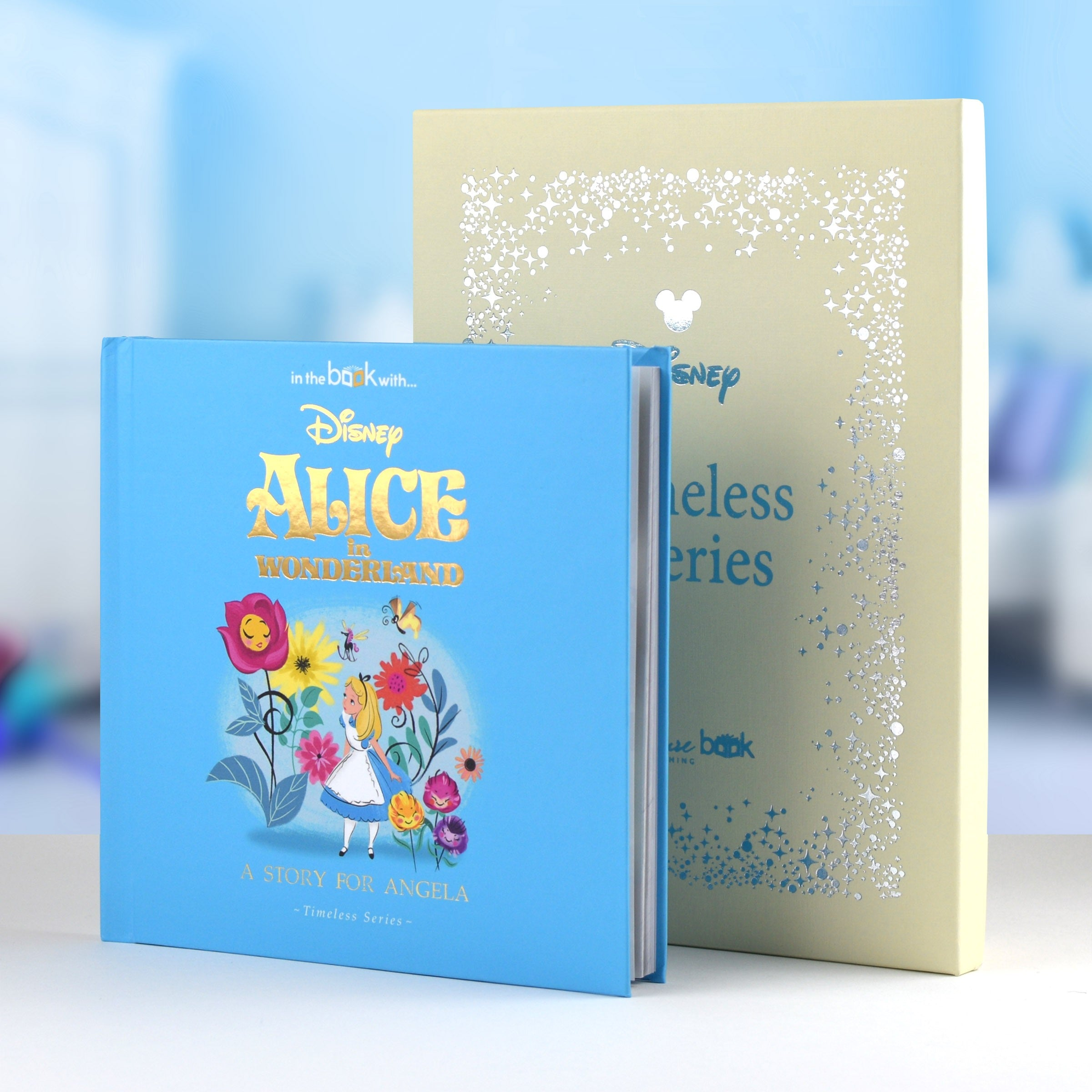Personalised Children Book Timeless Alice In Wonderland Book Hardback Gift Boxed