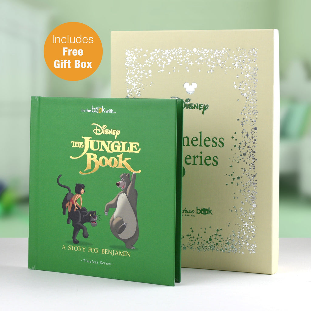 PERSONALISED Jungle Book Story Book Timeless Edition,Mowgli, Baloo, and Bagheera
