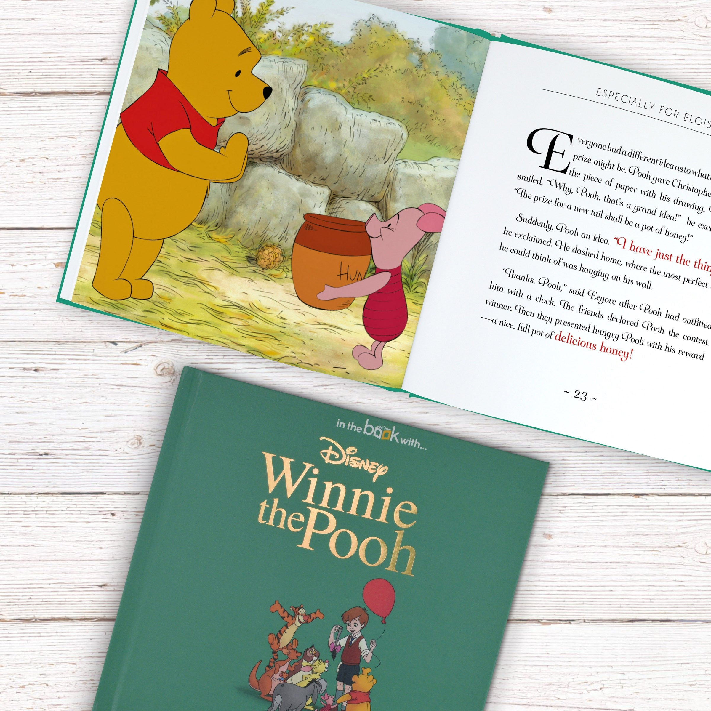 Personalised Children Book Timeless Disney Winnie the Pooh Hardback Gift Boxed
