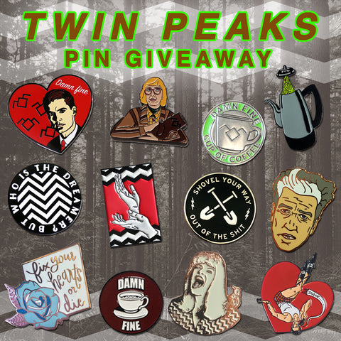 Twin Peaks Pin Giveaway Main Graphic
