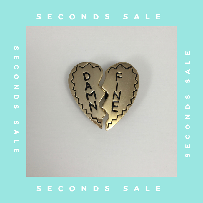 SECONDS SALE PIN - Damn Fine Gold Variant Pin Set