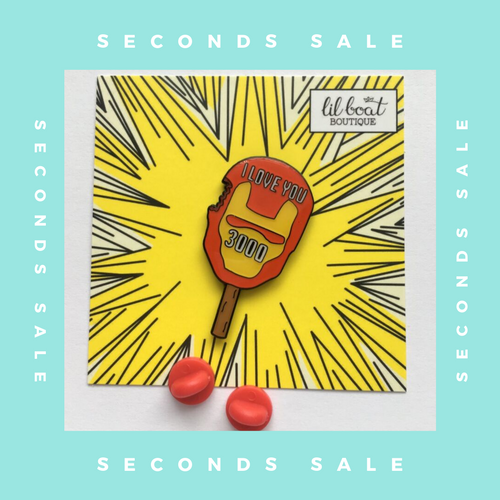 SECONDS SALE PIN - I Love You 3000 - Enamel Pin - Avengers Endgame
