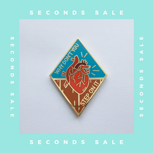 Seconds Sale - Heart Is On The Floor - Gold Hard Enamel Pin - Saves The Day