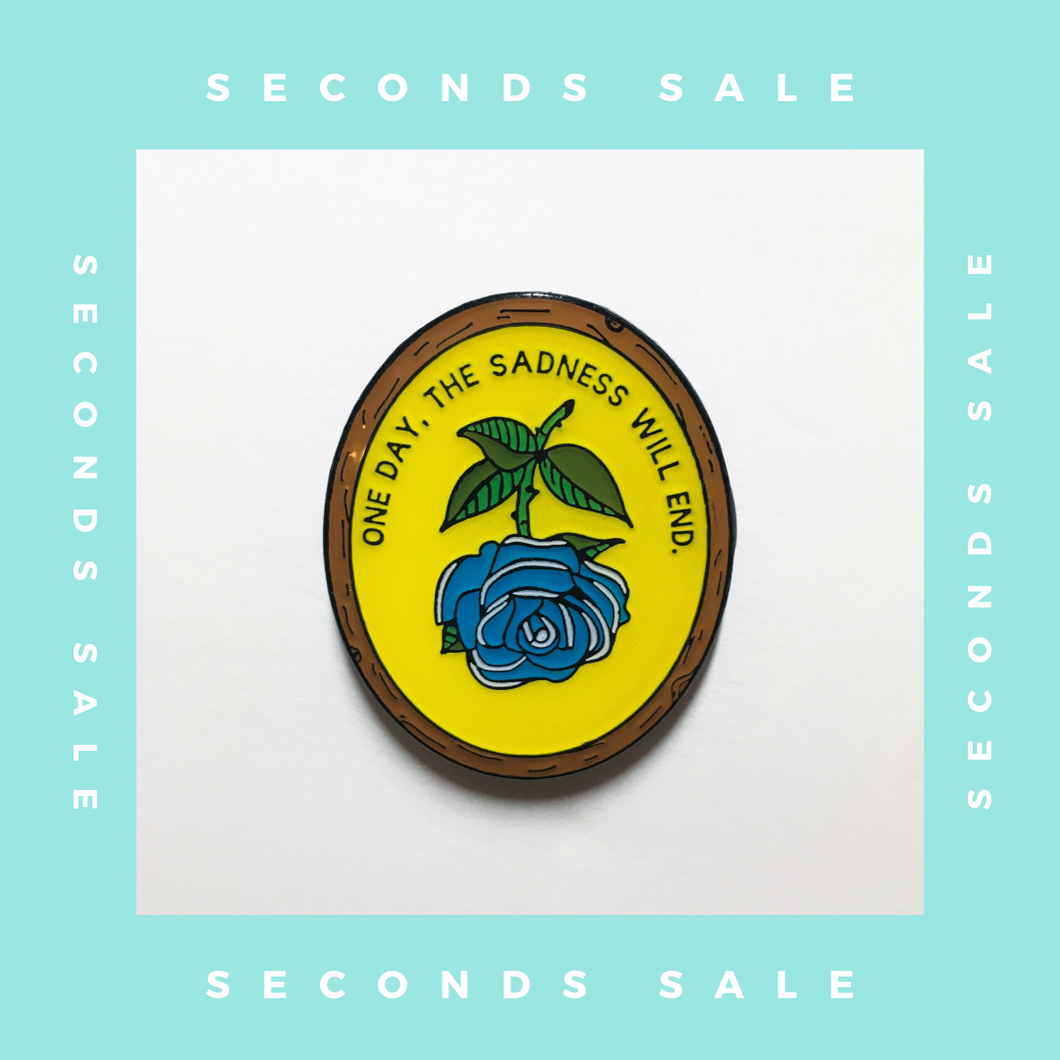 SECONDS SALE - Antique Flower In Frame - Soft Enamel Pin with Epoxy