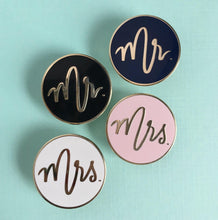Mr. and Mrs. Mix and Match Enamel Pins RETIRED