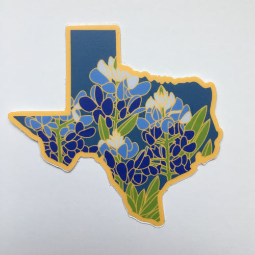 Texas Bluebonnet - Vinyl Sticker