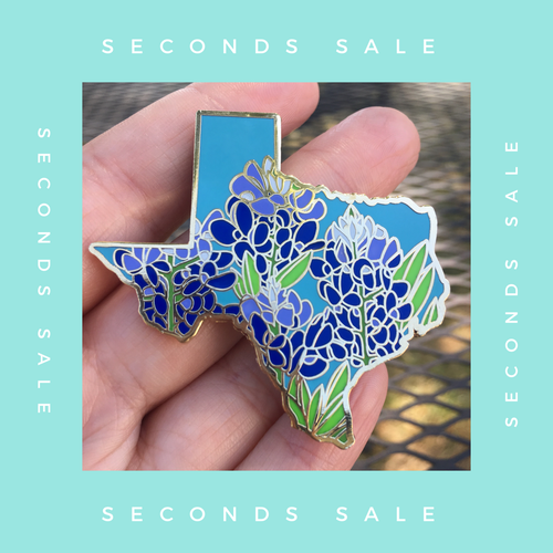 SECONDS SALE PIN - Texas Bluebonnet - State Flower Hard Enamel Pin