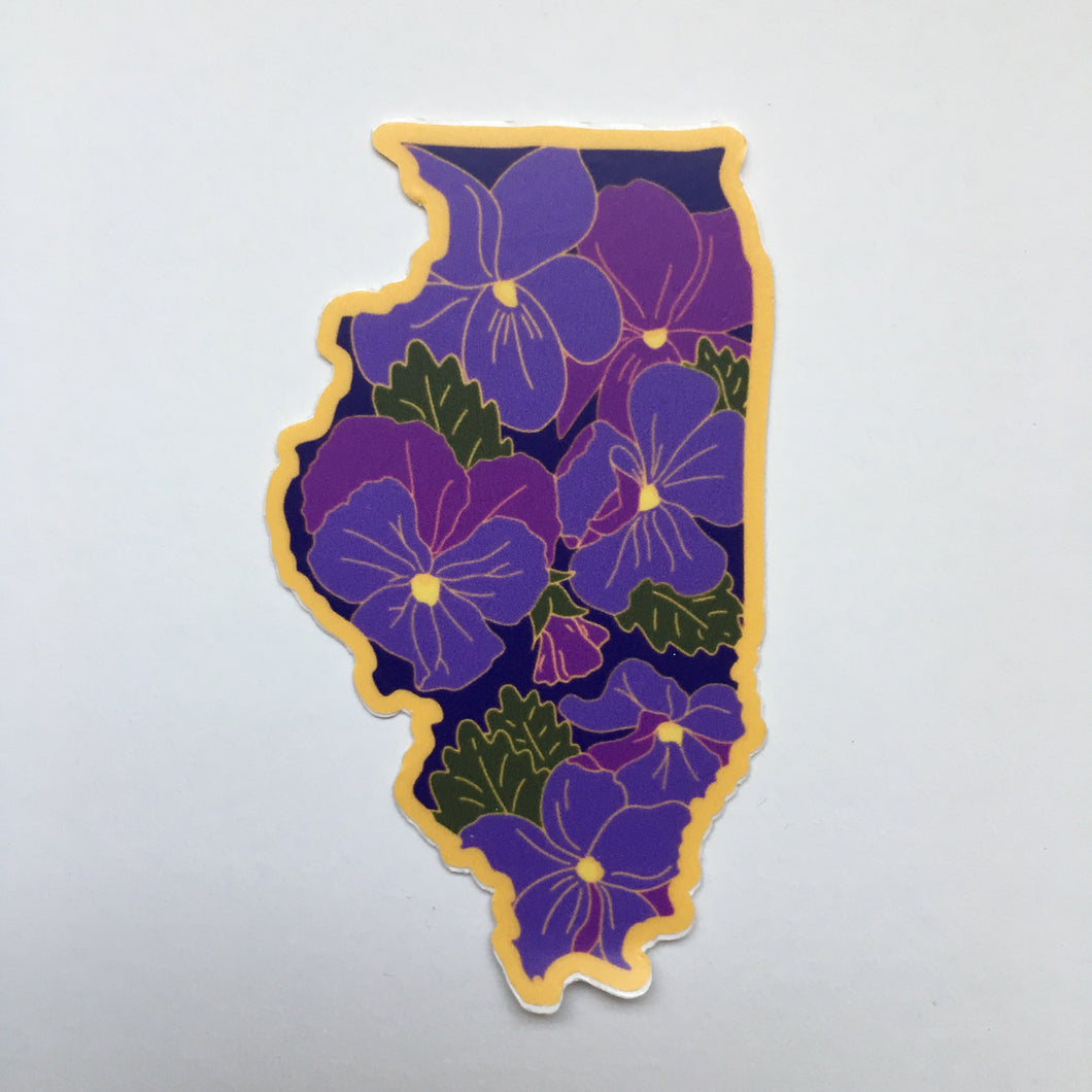 Illinois Violet - Vinyl Sticker