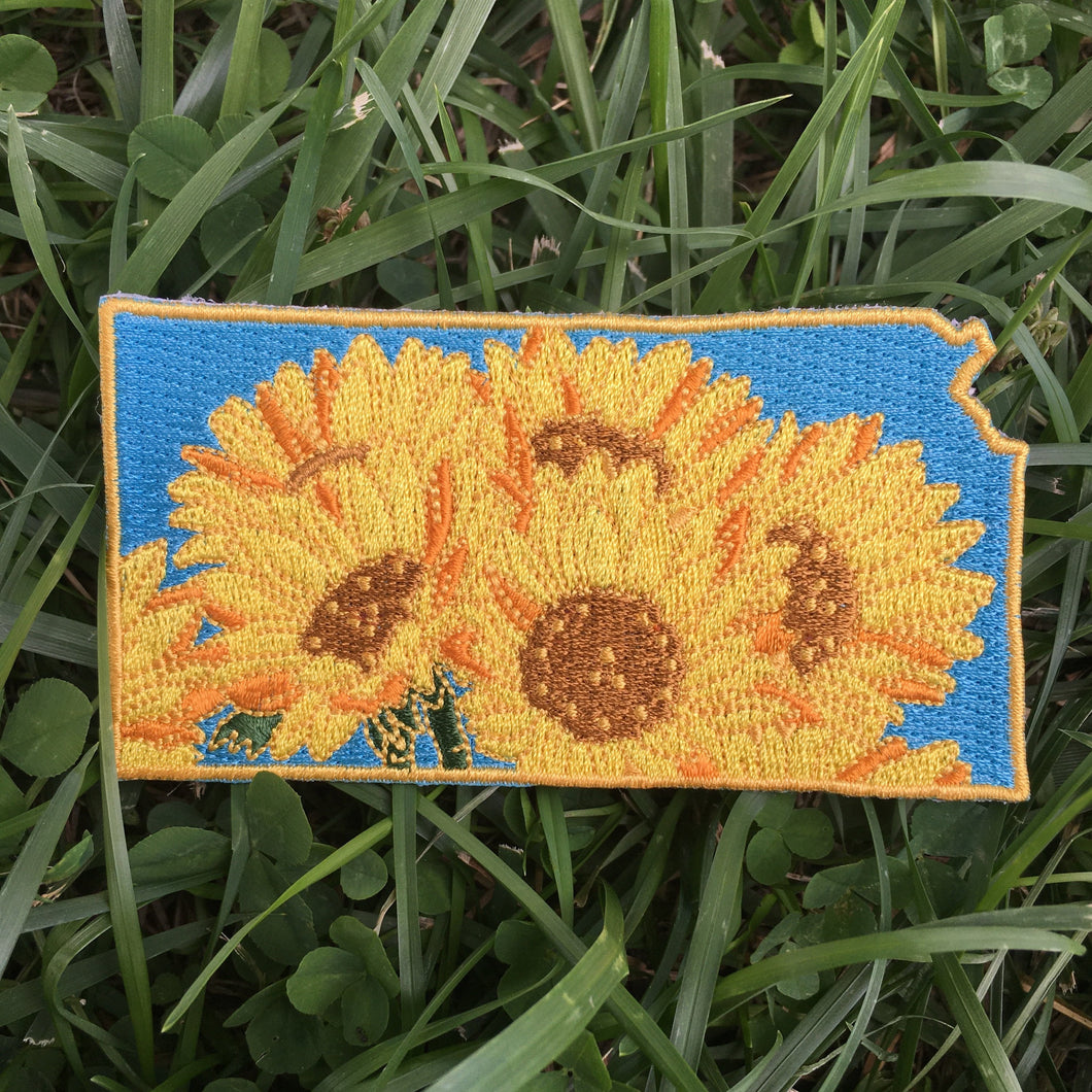 Kansas Sunflower - State Flower Embroidered Patch