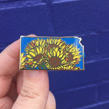 Kansas Sunflower Enamel Pin - State Flower Series KS