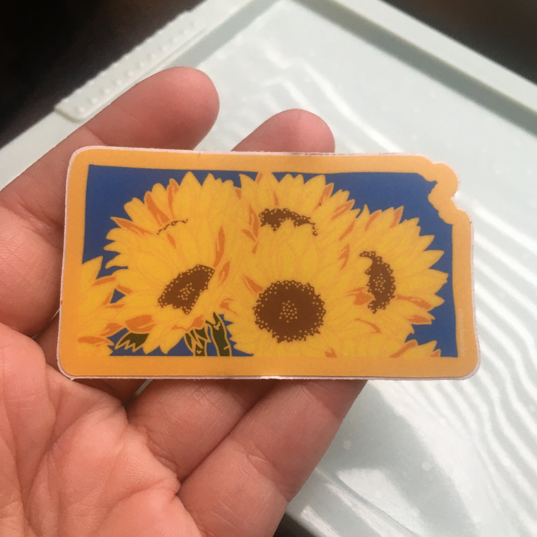 Kansas Sunflower - Vinyl Sticker - State Flower Series
