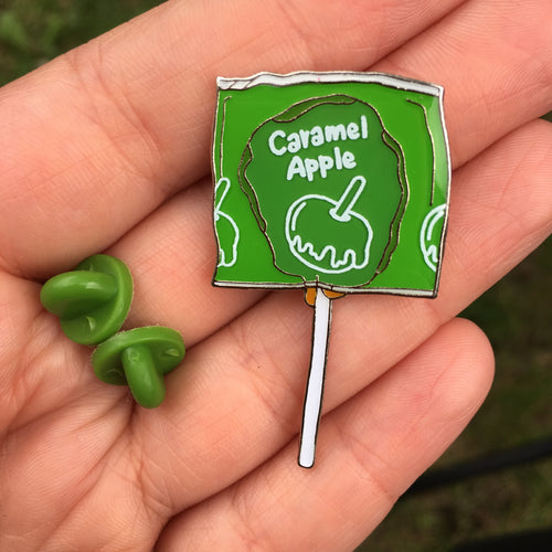 Caramel Apple - Halloween Candy Lollipop Enamel Pin