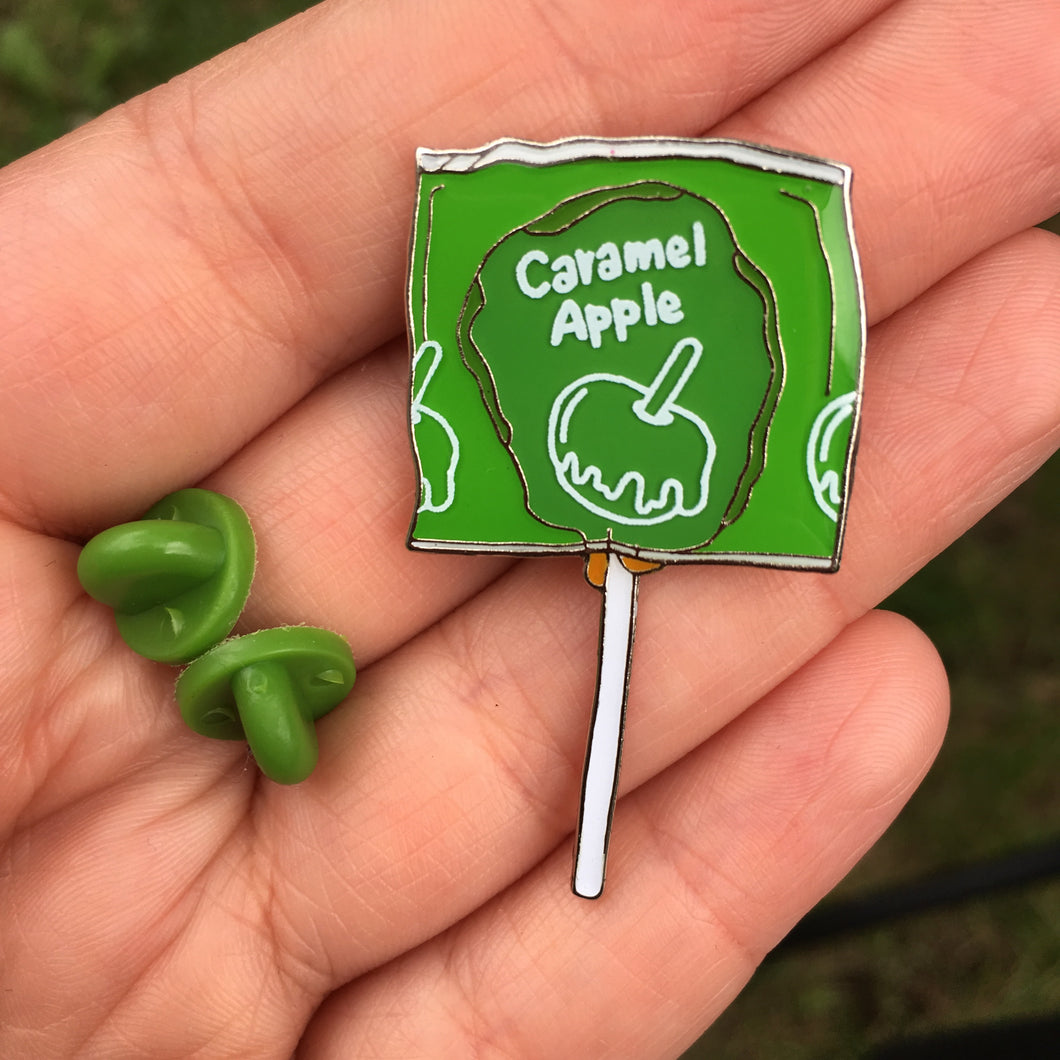 Caramel Apple - Spooky Halloween Candy Lollipop Enamel Pin