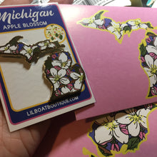 Michigan Apple Blossom Pin - State Flower Series - MI