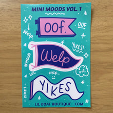 "Mini Moods 4x6"" Vinyl Sticker Sheet"