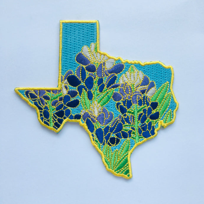 Texas Bluebonnet - State Flower Embroidered Patch
